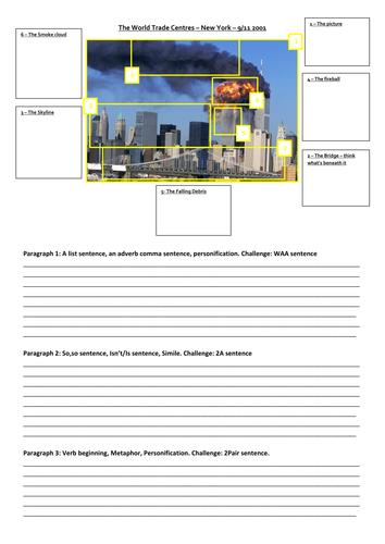 Descriptive Writing task/scaffold