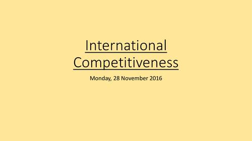 International Competitiveness: A Level Economics