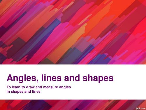 Drawing and measuring angles- Kandinsky