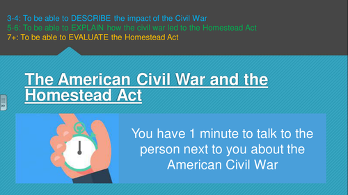 The American Civil War and Homesteading (American West, Edexcel 9-1)