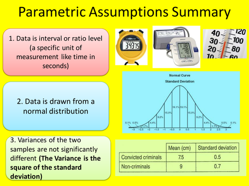 Parametric Statistical Tests for Degree Level and A Level Psychology