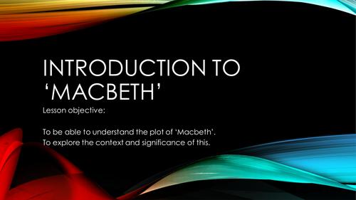 Contextual Introduction to 'Macbeth' (GCSE)