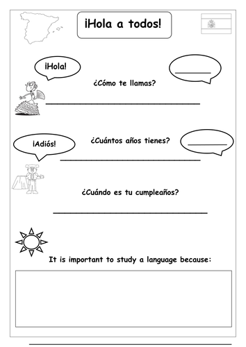 spanish introduction worksheet name age birthday importance of languages by roisin89. Black Bedroom Furniture Sets. Home Design Ideas