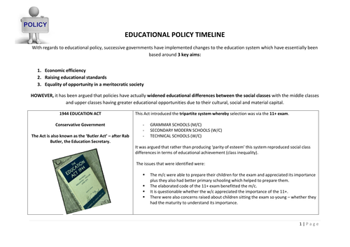 Education and Policy