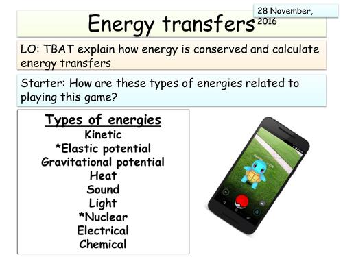 New AQA Physics (Energy unit) - KS3 Energy review lesson