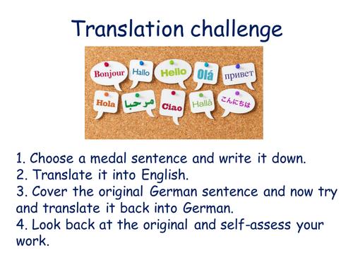 German translation challenge house and home