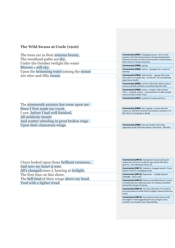 aqa as and a english language language and occupation discursive yeats the wild swans at coole close analysis