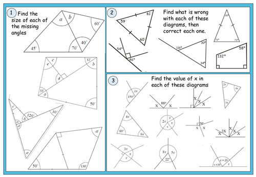 Scaffolded worksheet for constructing triangles by mathschampion – Constructing Triangles Worksheet