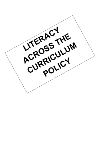 Literacy across the curriculum policy