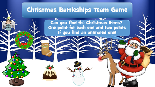christmas battleships team game interactive powerpoint game by