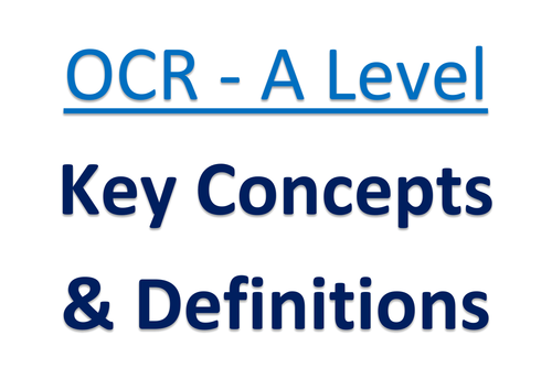OCR A Level - Key Concepts & Words Display