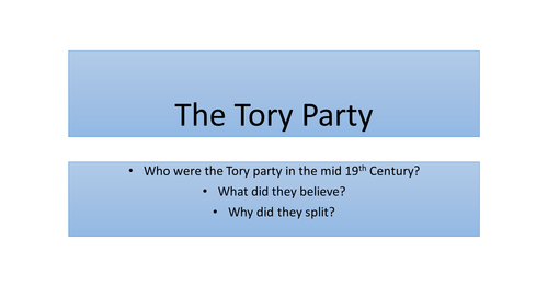 The Tory Party 1850s