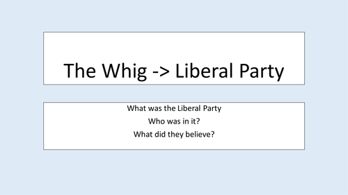 The Liberal Party 1850s