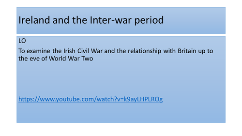 Ireland and the Inter-war period