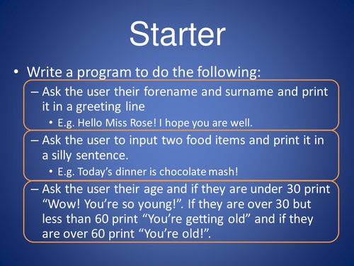 Programming: Looping