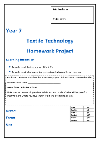Textiles homework help
