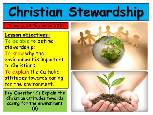 EDUQAS 2016 Religious Education Route B Theme 1.1 Catholic Teachings on Stewardship