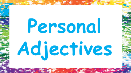 Personal Adjectives