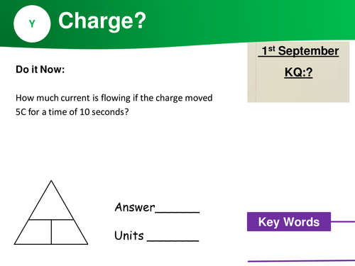 Do It now (starter) activities: SI Units + Physics equations