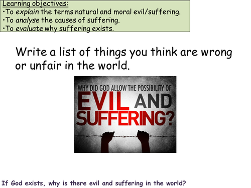 What is a Christian's response to Evil and Suffering?