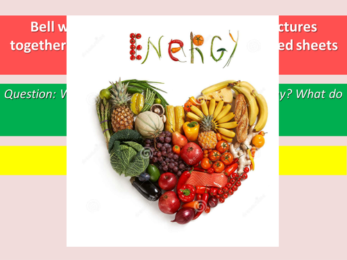 Foods and Fuels Activate 2 new SOW KS3 Physics