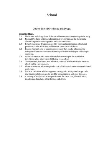 Medicine and Drug development  lesson