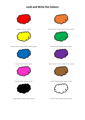 ks1 nursery colours activity 3 worksheets by kelcasper teaching resources. Black Bedroom Furniture Sets. Home Design Ideas
