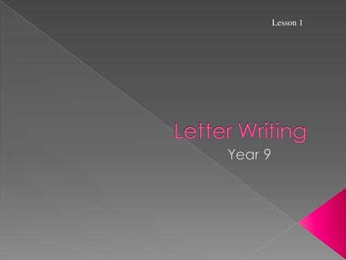 Mini Letter Writing Scheme KS3 Formal & Informal - 2 weeks