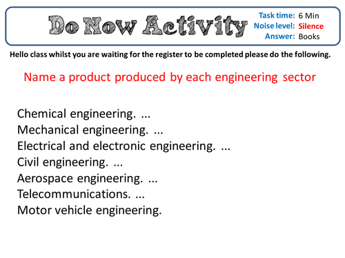 BTEC Engineering Unit 1 Example test 1 with answers