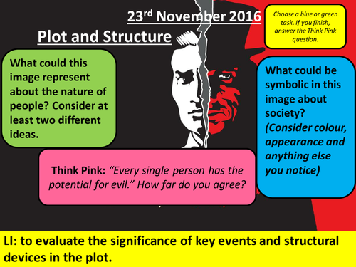 The Strange Case of Dr Jekyll and Mr Hyde - Plot and Structure Lesson