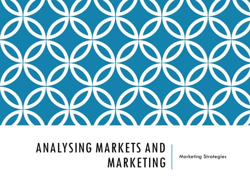 Analysing Marketing Data