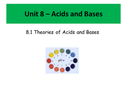 Post 16 Acids and Bases Scheme of Work