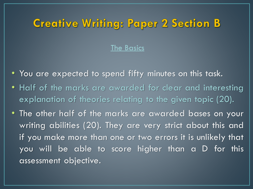 English Language A Level: Paper 2 Section B The Article
