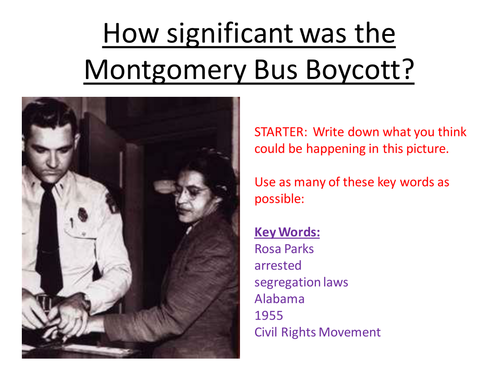 How significant was the Montgomery Bus Boycott