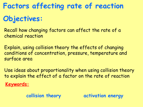 AQA C6.2 (New GCSE Spec 4.6 - exams 2018) – Collision theory and factors affecting rate of reaction