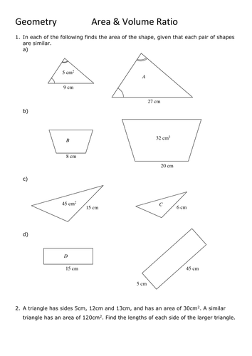 GCSE Maths : Area & Volume Ratio
