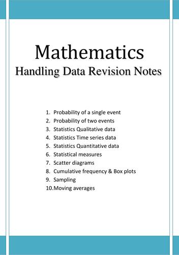 Handling Data Revision booklet