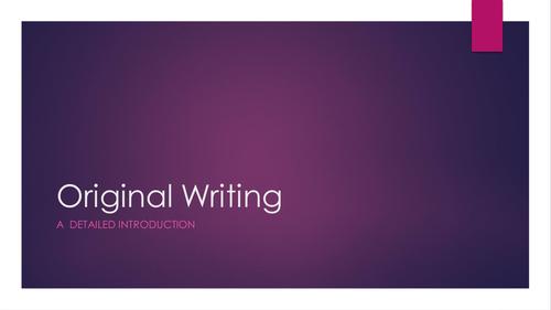 A Level Original Writing