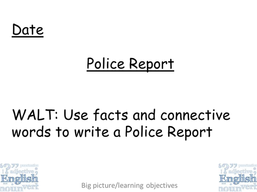 Writing a Police Report