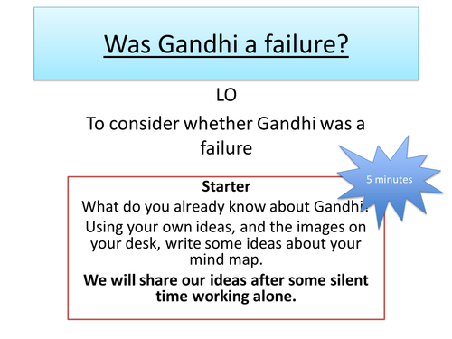 Was Gandhi a failure - A Level History