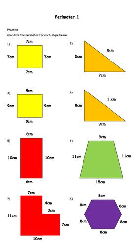 Calculating Perimeter Worksheet (Year 6)