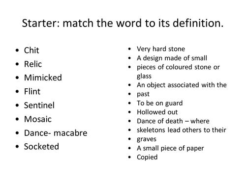 Mametz Wood - Owen Shears - GCSE ENGLISH LITERATURE 1-9