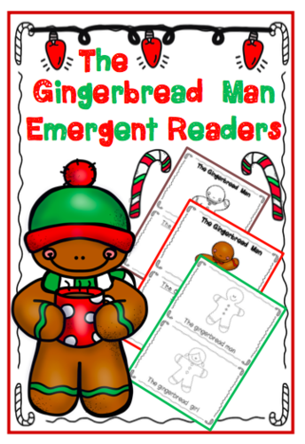 The Gingerbread Man Emergent Readers **FREEBIE**