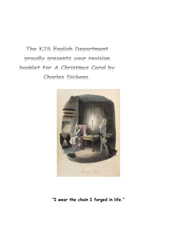 Revision Booklet for A Christmas Carol