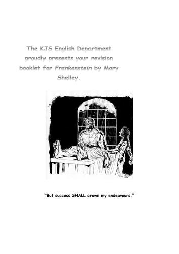Revision Booklet for Frankenstein