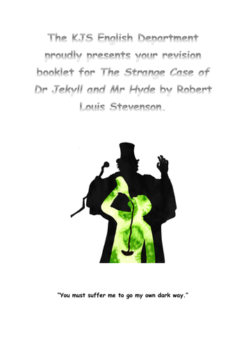 Revision Booklet for Dr Jekyll and Mr Hyde