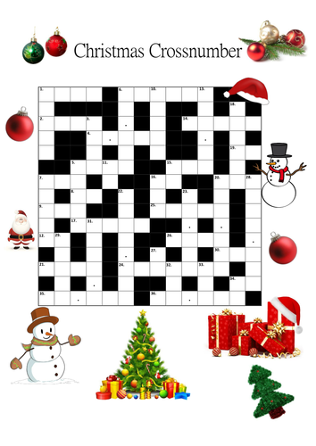 Christmas Crossnumber