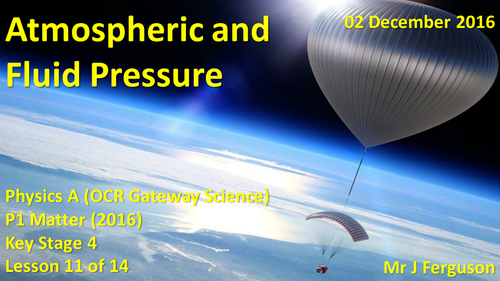 P1 L11 Atmospheric and Fluid Pressure