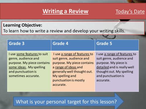 Eduqas Component 2 Writing Skills- Writing a Review