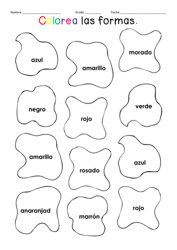 Colorea las formas by didade - Teaching Resources - Tes